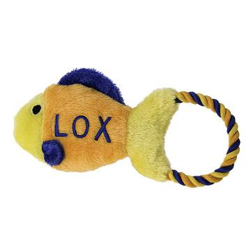 Lox Fish Dog Toy With Rope Tug