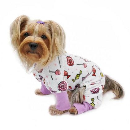 Ultra Soft Minky Sweet Candies Dog Pajamas