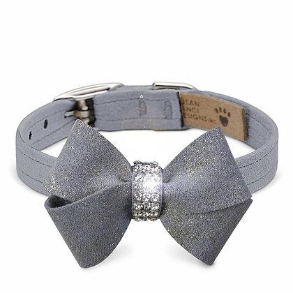 Platinum Glitzerati Nouveau Bow Tie Collar