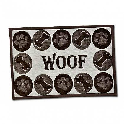 Woof Dog Placemat Chenille