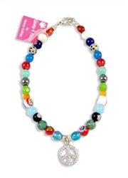 Peace Rocked Hippie Mix Dog Necklace