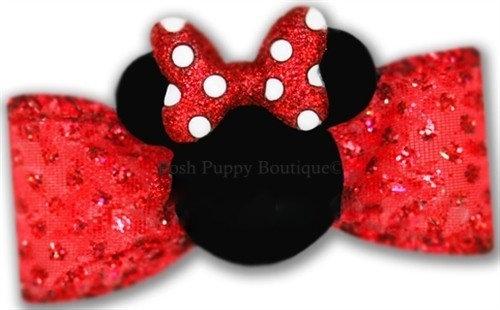 Minnie Mouse Ears Dog Hair Bow