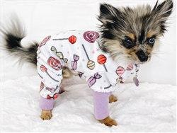 Ultra Soft Minky Soft Candies Dog Pajamas