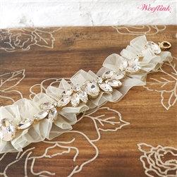 Moon Dust White Dog Necklace