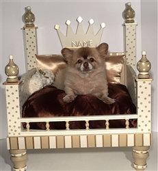 King/Queen Gold Designer Dog Bed