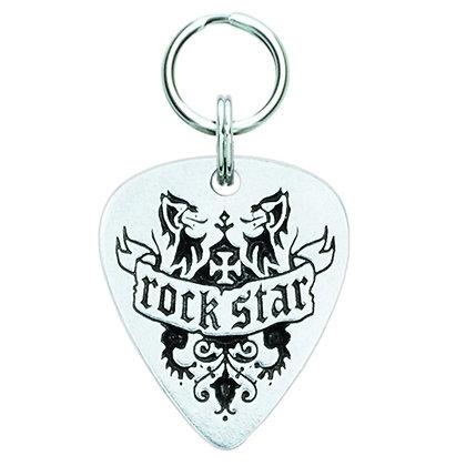 Rock Star Guitar Pick Dog ID Tag