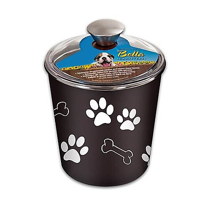Bella Dog Treat Canister Espresso