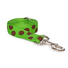 Fab Dog Polka Dot Dog Leash Green