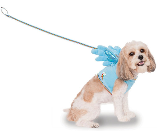 Rainbow Dash Dog Harness & Leash Costume