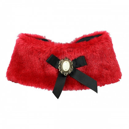 Luxurious  Fur Dog Cape Red