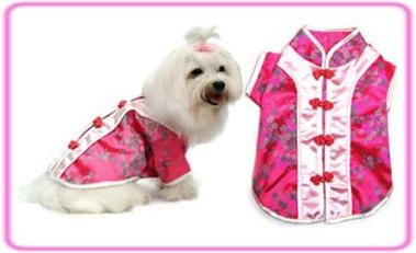 Chinese Cutie Dog Costume Pink