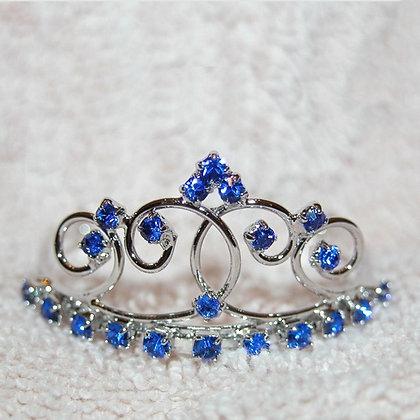 Jazzie Crystal Dog Tiara Blue