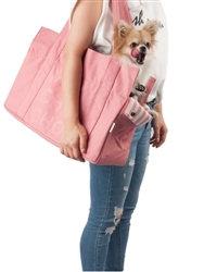 Canvas Tote Bag Dog Carrier Pink