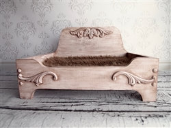 Luxury Wooden Dog Bed With Antique Finish