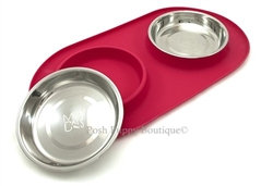 Messy Mutts Silicone Double Pet Bowl