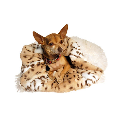 Cuddle Pouch Dog Bed Snow Leopard