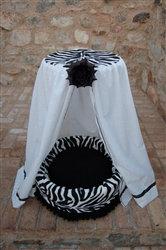 Palatial Pop Dog Bed Cotton Eyelet and Zebra