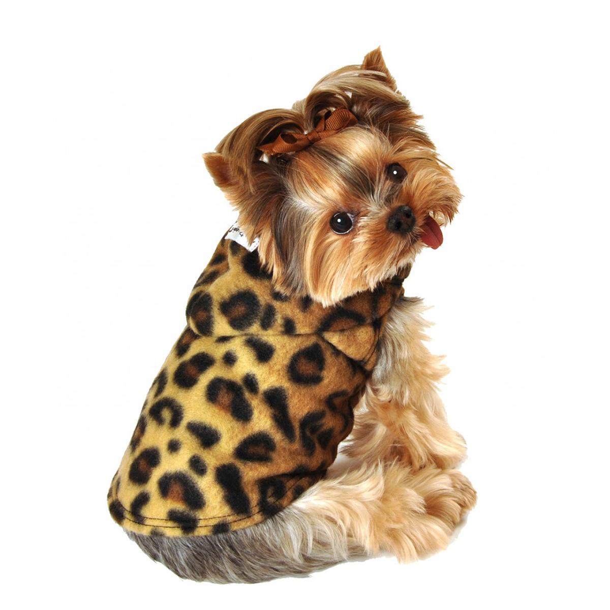 Fleece Hoodie Leopard