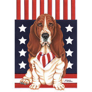 Patriotic Dog Breed Flag