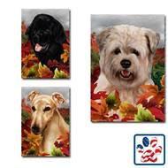 Fall Leaves Dog Breed Flag