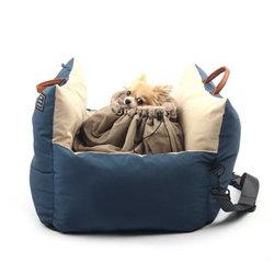 Mon Carseat Dog Car Seat Navy/Cream