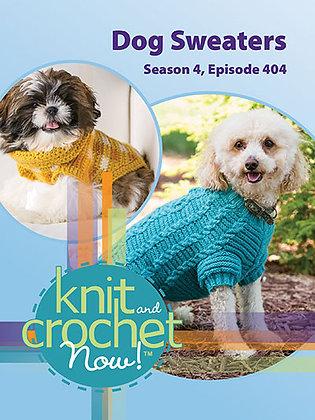 Knit and Crochet Dog Sweater Patterns