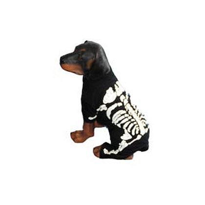 Skeleton White Dog Costume