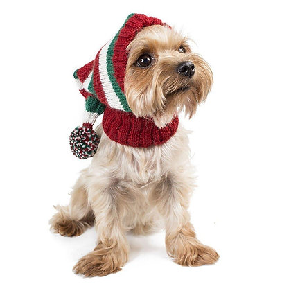 Elf Christmas Dog Hat