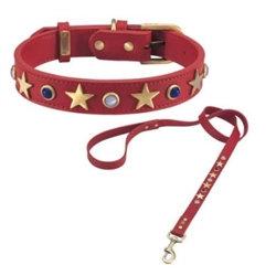 American Dog Collar Red