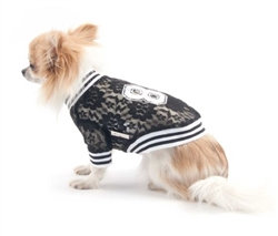 Sporty Lace Dog Tee Black