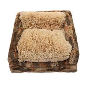 Sofa Dog Bed Rusty Fox/Camel Shag