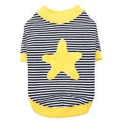 Starfish Dog T-Shirt Yellow and Navy