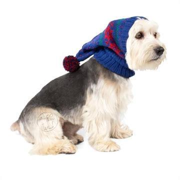 Christmas Snowflakes Dog Hat Blue