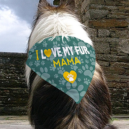 Personalized Fur Mama Dog Bandana