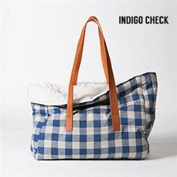 Louisdog Linen Viva Carrier Indigo Check