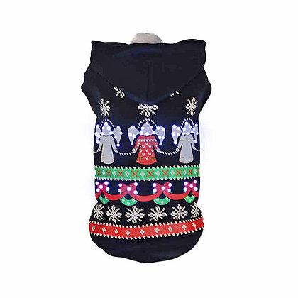 LED Holiday Hooded Dog Sweater