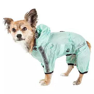 Pet Life Torrential Shield Full Body Dog Windbreaker Raincoat