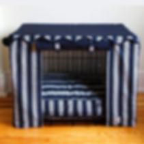 Nautical Stripe Crate Cover