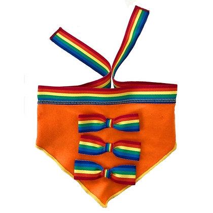 Rainbow Ribbon Dog Scarf Orange
