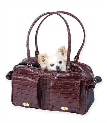 Petote Marlee Dog Carrier Brown Croco