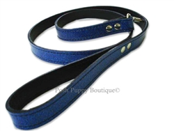 Leather Leash Sapphire