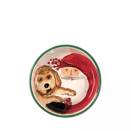 Old St. Nick Small Dog Bowl