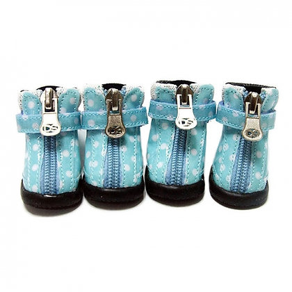 Polka Dot Dog Hiker Boots Blue