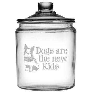Dogs Are The New Kids Glass Treat Jar