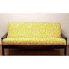 Adele Microfiber Futon Cover Yellow/White