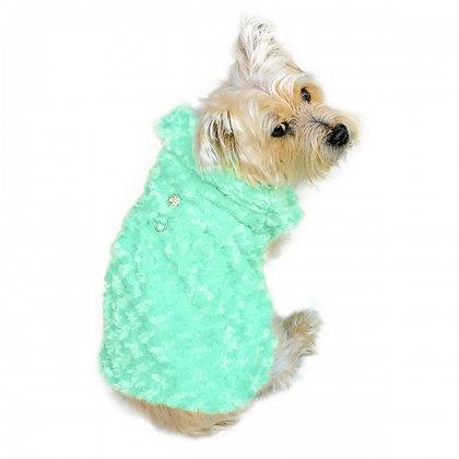 Shop Til You Drop Dog Coat Seafoam