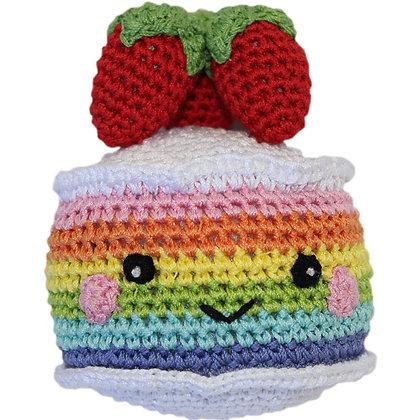 Rainbow Caked Organic Dog Toy