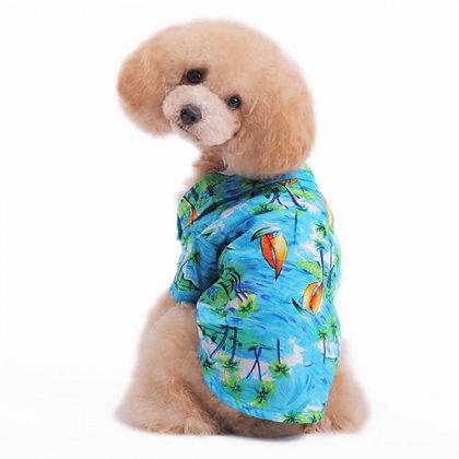 Aloha Dog Shirt Blue