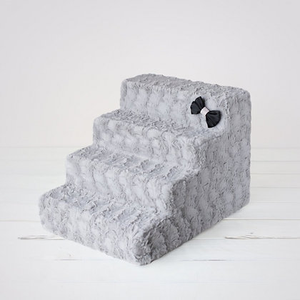 Luxury Dog Stairs Dove Grey