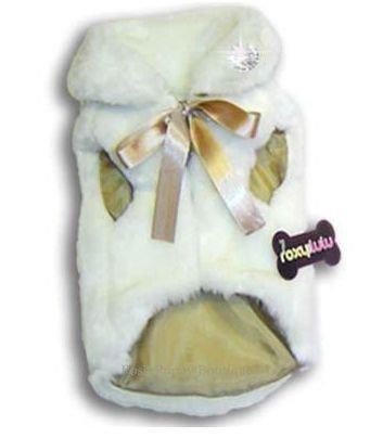 Fun Fur Glamour Dog Coat White